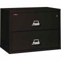 "FireKing ignifuge 2 tiroir FILIERE laterale - lettre-Legal taille 37-1/2"" W x 22 «D x 28» H - noir"