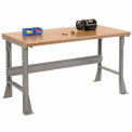 "72 ""L X 30 H « X 34 D » Shop sécurité haut bord Workbench - gris"