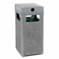 """Global Industrial™ Stone Panel Trash Weather Urn, Gray 24 Gallon, 17-1/2"""" Square X 36""""H"""