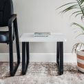 """Interion® Square Coffee Table 20"""" x 20"""" Gray Top"""