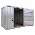 "Galvanized Steel Outdoor Storage Sheds 9'1-1/2""W x 12' 9""D x 7'1""H"