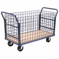 Global Industrial™ Euro Truck with 4 Wire Sides & Wood Deck 48 x 24 2000 Lb. Capacity
