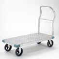 """Global Industrial™ Aluminium Diamond Deck Plate-forme Camion 60x30 2400 Lb Cap. 8"""" Casters en caoutchouc"""