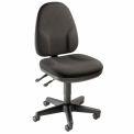 Interion® Chaise de bureau multifonction - Tissu - Noir