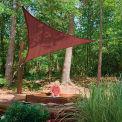 ShelterLogic 25670 Triangle Sun Shade Sail, 12'L, Terracotta