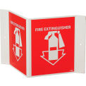 """Fire Extinguisher Sign, 180° Visibility, Acrylic, 8"""" x 14-1/2"""", VS11R"""