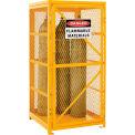Global Industrial™ Cylinder Storage Cabinet SGL Door Vertical, 9 Cylinder Cap., Manual Close
