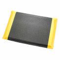 """À la frontière diamant plaque ergonomique Mat 9/16"""" épais 36""""X 60», noir/jaune"""