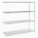 "Nexel Poly-Z-Brite Wire Shelving Add-On 54""W x 21""D x 74""H"