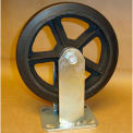 "Rubber Casters 8"" x 2"" (2 Swivel, 2 Rigid) for Wright Self-Dumping & Low Profile Hoppers"