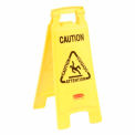 Rubbermaid® 6112 Floor Sign 2 Sided Multi-Lingual - Caution