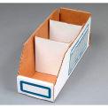 "Corrugated Cardboard Divider for Shelf Bin 12""W, White  - Pkg Qty 200"