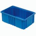 """Plastic Dividable Grid Container - DG92060,16-1/2""""L x 10-7/8""""W x 6""""H, Blue - Pkg Qty 8"""