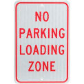 "Aluminum Sign - No Parking Loading Zone - .080"" Thick, TM14J"