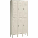 Penco 6235V-3 Vanguard Locker Pull Latch Double Tier 12x18x36 6 Doors Ready To Assemble Champagne
