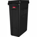 Contenant à recyclage Rubbermaid® Slim Jim® 3540, 23 gallons - Noir