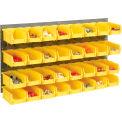 Panneau Grille Bin 36 mural x19 avec 32 bacs jaune 4-1/8 x 7-1/2 x 3 empilement