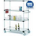 Nexel® Stainless Steel Shelf Truck 48x24x69 1200 Pound Capacity