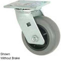 """Faultless Swivel Plate Caster 493-3RB 3"""" TPR Wheel with Brake"""