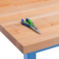 "72"" W x 30"" D x 1-3/4"" Thick Maple Butcher Block Square Edge Workbench Top"