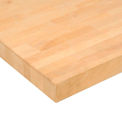 "96"" W x 30"" D x 1-3/4"" Thick Maple Butcher Block Square Edge Workbench Top"
