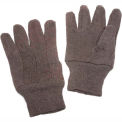 Brown Jersey Gloves, Size Large,  1 Dozen