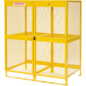 Global Industrial™ Cylinder Storage Cabinet, Vertical Double Door 20 Cylinders, 64W x 40D x 71H