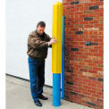 "Eagle Ribbed Bollard Post Sleeve 6"" Yellow, 1730-YL"