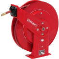 "Reelcraft 7850 OLP 1/2""x 50' 250 PSI Heavy Duty All Steel Spring Retractable Low Pressure Hose Reel"