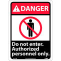 """Graphic Signs - Danger Do Not Enter - Plastic 10""""W X 14""""H"""