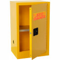 "Global™ Compact Flammable Cabinet - 16 Gallon Manual Close Single Door - 23""W x 18""D x 44""H"