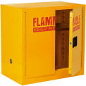 "Global™ Bench High Flammable Cabinet - 22 Gallon Manual Close Double Door - 35""W x 22""D x 35""H"
