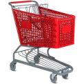 Le panier d'achat en plastique rouge VersaCart® 5,2 pieds cubes capacité 103-145-RED-BH