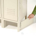 """End Base For 15""""D X 6""""H Tan Locker Pair (Left And Right)"""