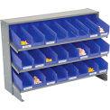 3 étagère banc Pick Rack avec 24 plateau bleu bacs 4 pouces large 33 x 12 x 21