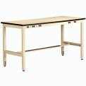 Non conductrice Electronic Workbench 34 pouces haute sable 60 x 30