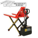 Battery Operated High Lift Skid Truck 3300 Lb. Capacity 27 x 44