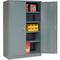 Global™ Storage Cabinet Easy Assembly 48x24x78 Gray