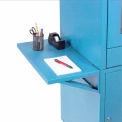 Side Shelf Kit For Global Industrial™ Computer Cabinet, Blue, Set of 2