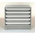 Armoire à tiroirs de rangement modulaire Rousseau30x27x32,5 tiroirs, (2 tailles, sans séparateur, verrou, gris