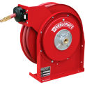 "Reelcraft 4435 OLP 1/4""x35' 300 PSI Premium Duty All Steel Spring Retractable Compact Hose Reel"