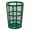 Global Industrial™ Outdoor Metal Trash Container Green, 48 Gallon