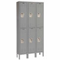 Hallowell U3286-2A-HG Premium Locker Double Tier 12x18x30 6 Door Assembled - Dark Gray
