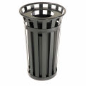 Global Industrial™ Outdoor Metal Waste Receptacle - 24 Gallon Black