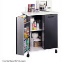 Safco Steel Mobile Refreshment Center, Black - 8963-BL