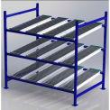 "UNEX FC99SR72483-S Flow Cell Heavy Duty Gravity Rack Starter 72""W x 48""D x 72""H with 3 Levels"