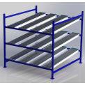 """UNEX FC99SR72723-s Flow cellule Heavy Duty gravité Rack Starter W 72"""" x 72 «D x 72» H avec 3 niveaux"""