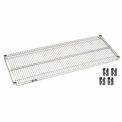 "Nexel S1854Z Poly-Z-Brite Wire Shelf 54""W x 18""D with Clips"