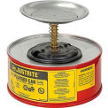 Bidon à piston sécuritaire Justrite-1pinte, acier, 1010-8