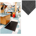 "Upfront Scraper Outdoor Entrance Mat 5/16"" Thick Black 36x60"